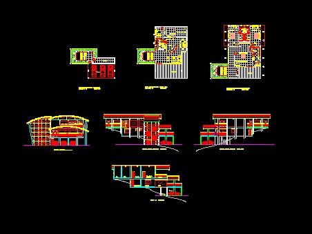 پروژه کامل اتوکد ساختمان ویلایی مدرن روی سطح شیب دار قابل ویرایش