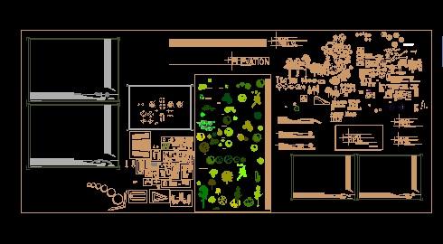 مجموعه کامل مبلمان معماری مخصوص نرم افزار اتوکد رشته نقشه کشی معماری